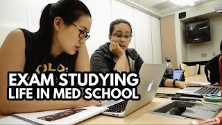 EXAM STUDYING: Life of a Medical School Student -- A Full Day of Studying