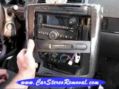 Pontiac G5 Stereo Wiring Diagram 2008 Ford F250 Ignition Car Removal - Youtube