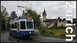 Zürich Tram Linie 13 / Albisgüetli - Bahnhofquai/HB, Schweiz 2018