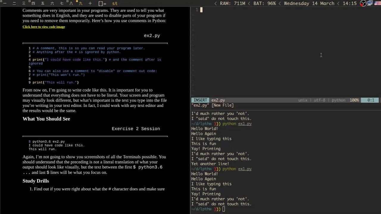 Learn Python 3 The Hard Way 1 Youtube