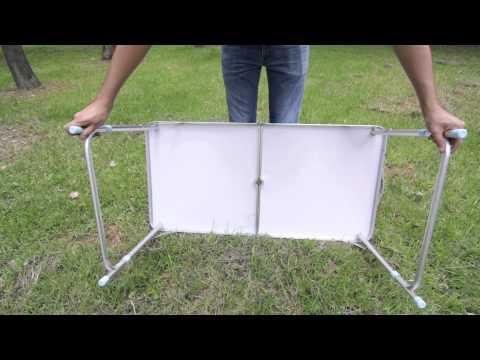 Mesa plegable tipo portafolio o maletin aluminio 4 sillas for Mesa plegable maletin
