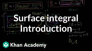 Introduction to the surface integral | Multivariable Calculus | Khan Academy