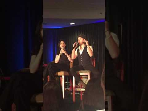 Chris Brochu and Jodi Lyn O'Keefe on Karaoke and Mother of Dragons #TVDDC 2016