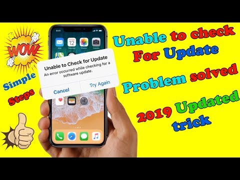 Unable To Check For Update IN IOS Problem FiXeD | 2019 Updates