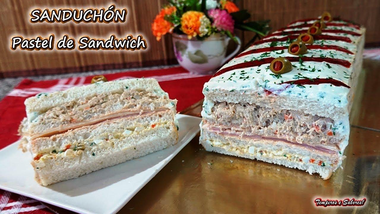 SANDUCHÓN Pastel de Sandwich Fácil y Riquisimo