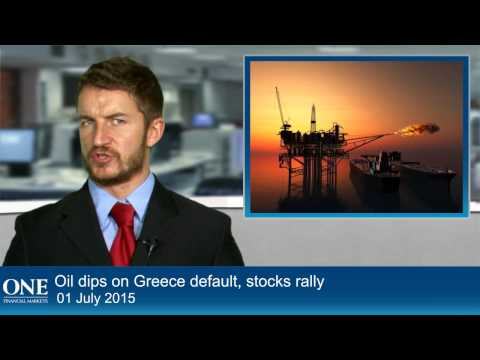 Oil dips on Greece default, stocks rally