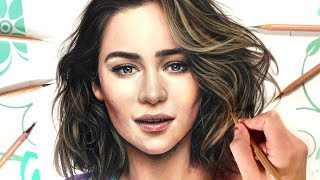 How to Draw Hair | Drawing Realistic Hair using Coloured Pencil