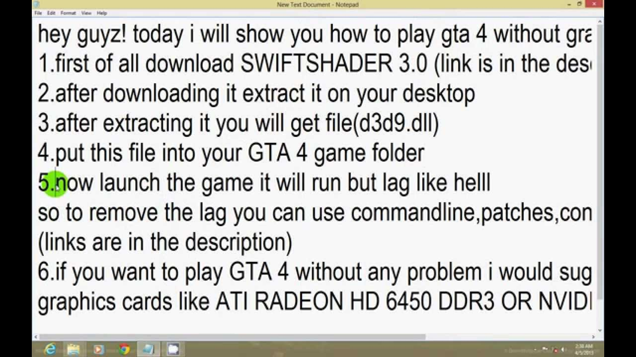 download swift shader 3.0 for gta 4