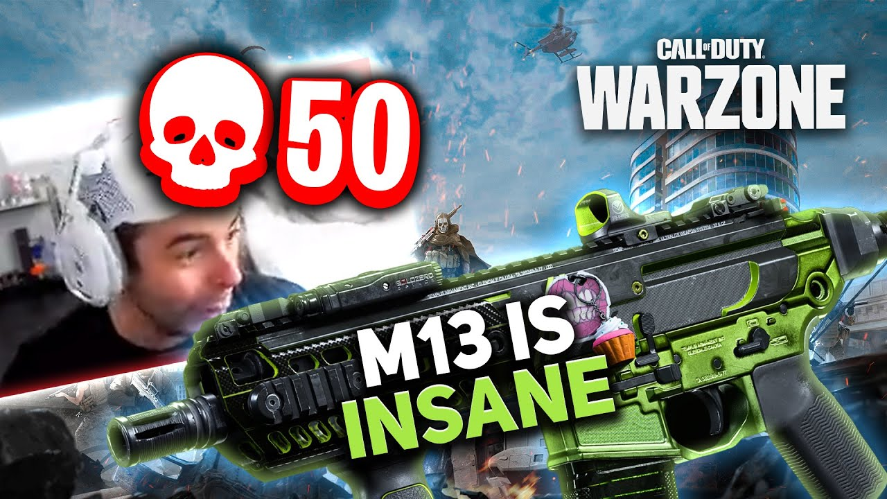 THIS *OVERPOWERED* M13 IS AMAZING! 50 KILL INSANE WARZONE GAME! (Modern Warfare)