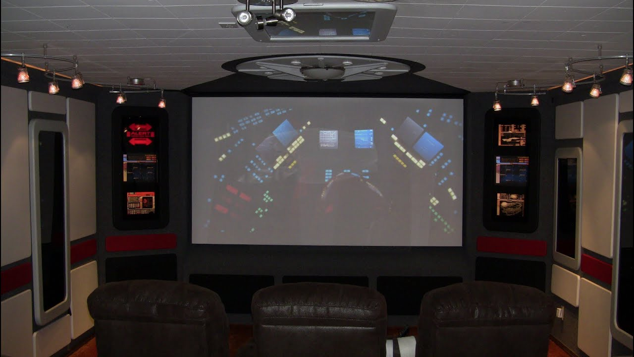 DIY Star Trek Home Theater Construction   YouTube