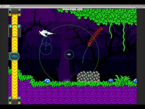 Mighty Tactical Shooter – Early sample of path bending via gravity wells