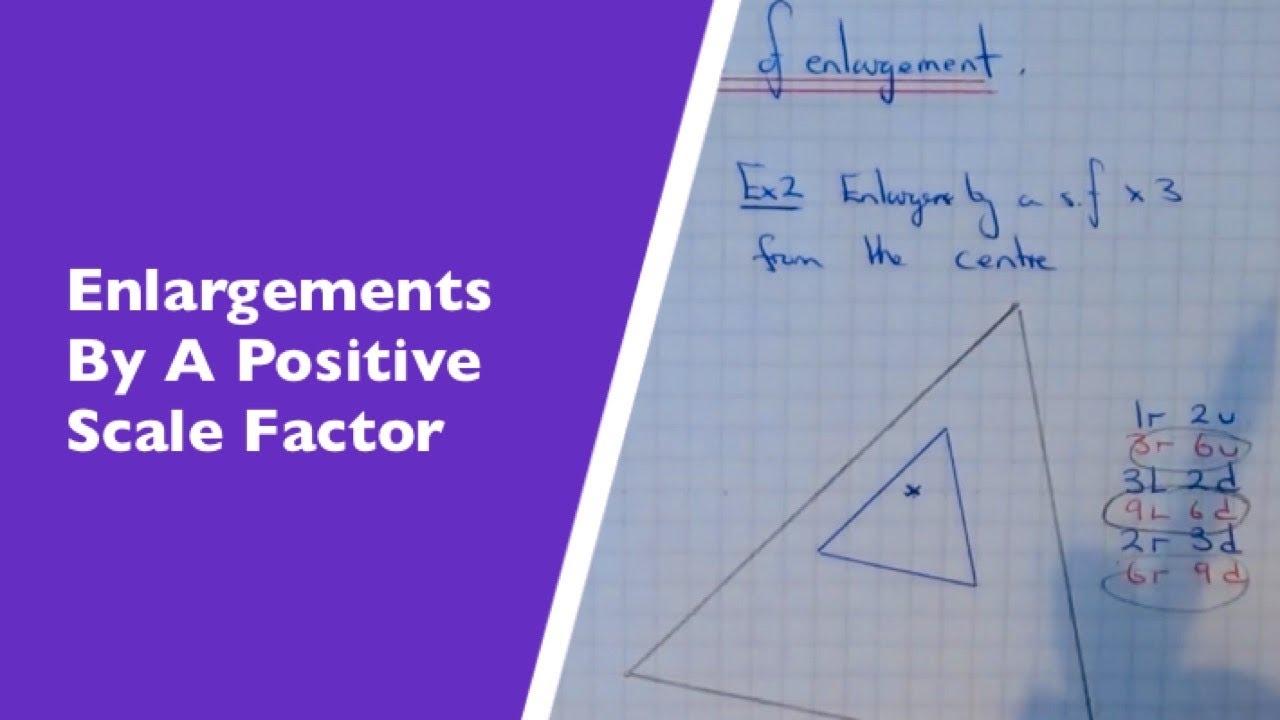 Enlargements. How To Enlarge A Triangle By A Scale Factor From A ...