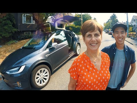 Thumbnail: My MOM in the new TESLA Model X