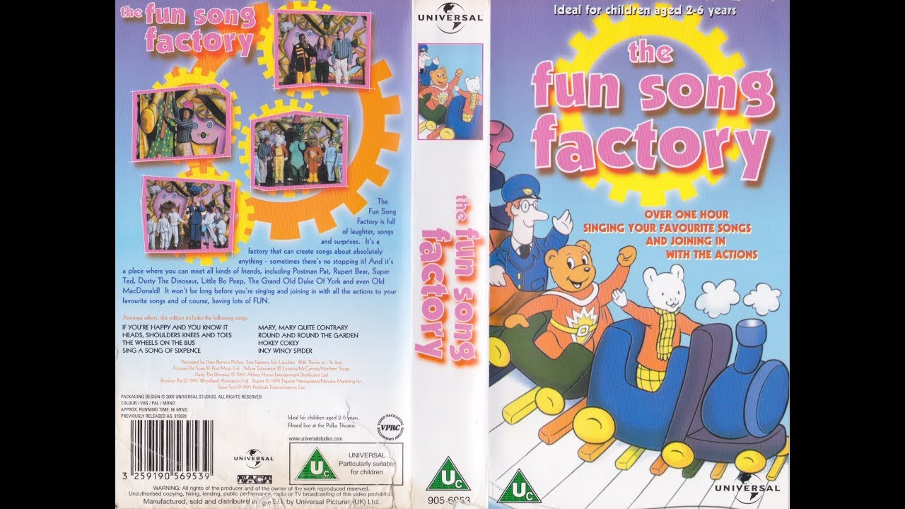 the fun song factory 2001 reissue uk vhs youtube