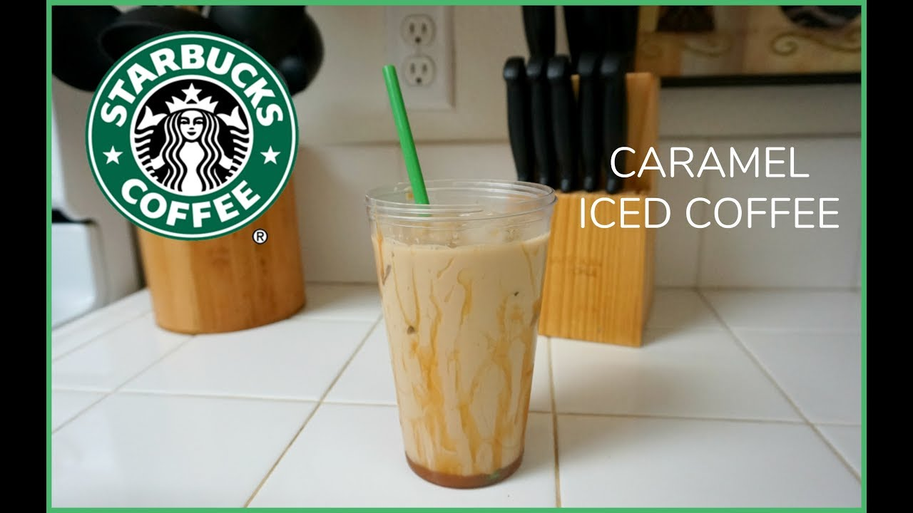 Caramel Iced Coffee Recipe! - YouTube