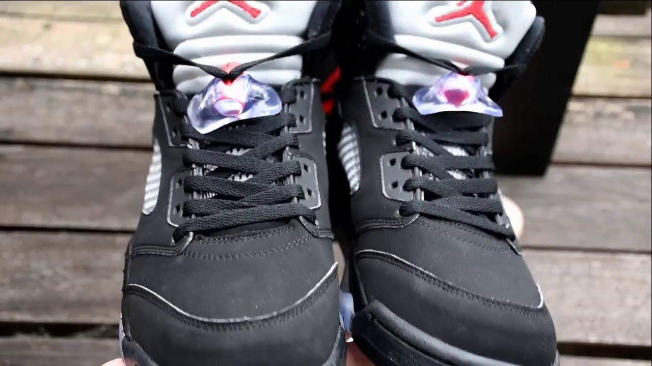 "e2fe49287b4 Authentic Air Jordan 5 Retro OG ""Black Metallic"" Unboxing Review - sneaker  jumpman   sneakerjumpman - YouTube"