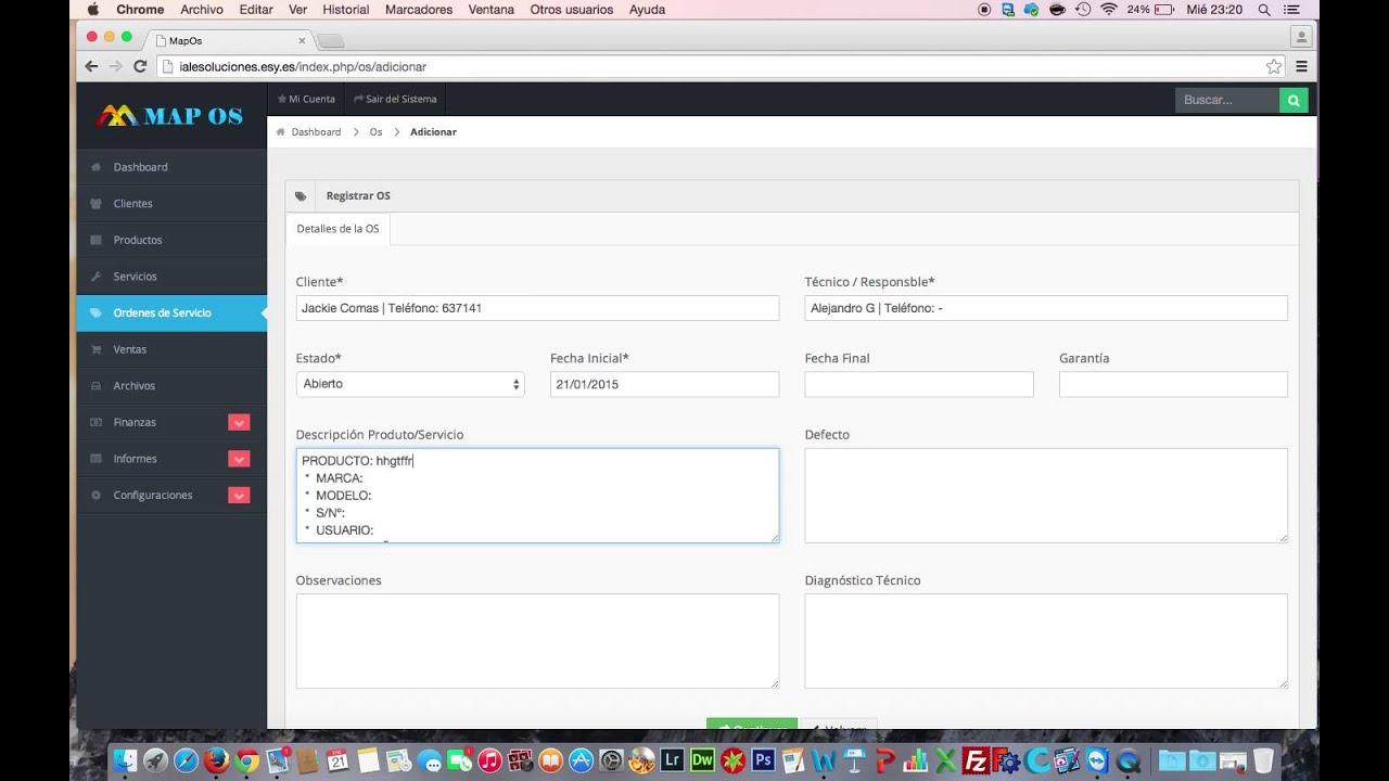 Sistema de orden de servicio gr tis php mysql satweb - Central de compras web ...