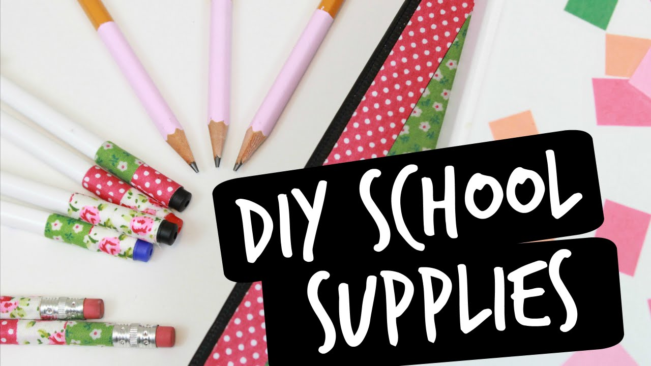 easy diy ways to decorate your school supplies youtube