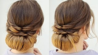 Quick and Easy Heatless Updo | Heatless Hairstyles | Braidsandstyles12