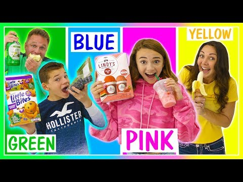 Last to STOP Eating Their Color of food WINS $10,000 | We Are The Davises