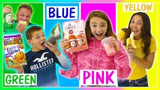 Last to STOP Eating Their Color of food WINS $10,000   We Are The Davises