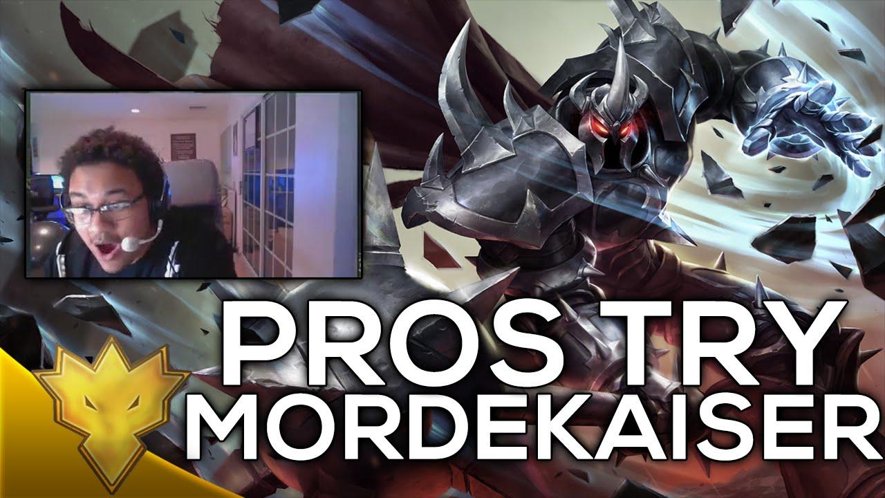 Pros play the new Mordekaiser (Aphromoo/Sneaky/Imaqtpie ...