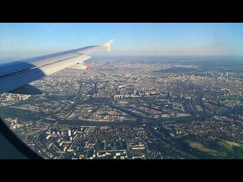 Very Beautiful Landing In Paris AirFrance A320 Center Of Paris From The Sky