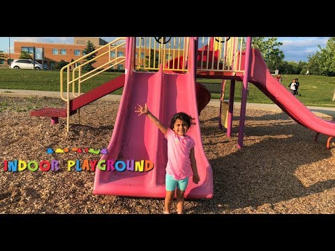 Outdoor Playground For Kids!! Fun Playtime At The Park