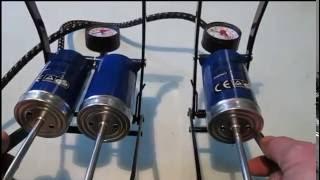 сравнение  1 - цилиндрового и  2 - цилиндрового ножных насосов