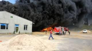 Pożar w Leśnicy euro - dom