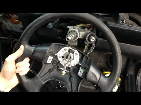 VW golf mk3 - how to remove steering wheel & airbag video