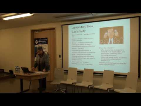 "Prof. Susan Wright ""Current trends in higher education"""