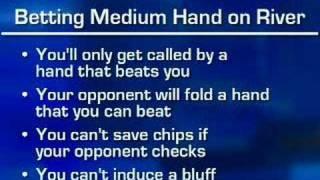 Expert Insight Poker Tip: Betting with Medium Strength Hands