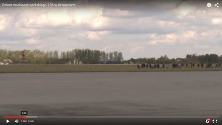 Pokaz możliwości polskiego F16 w Krzesinach