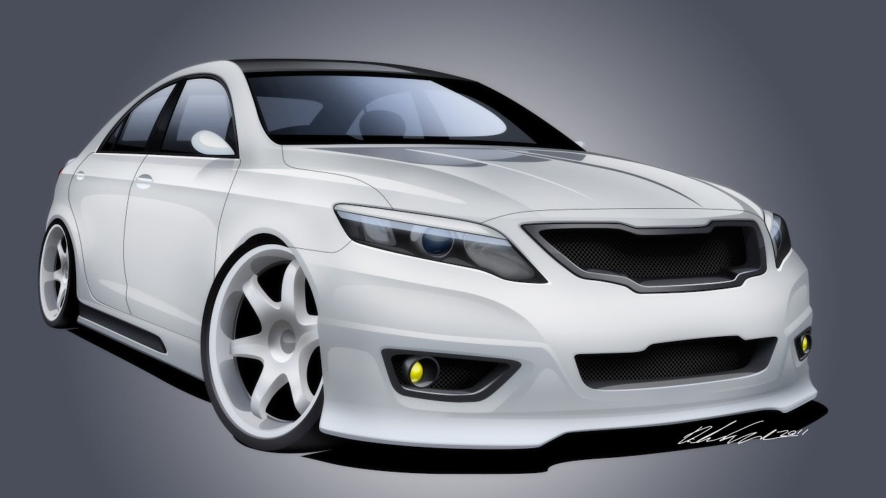 2011 Custom Camry Se Design Time Lapse Render Youtube