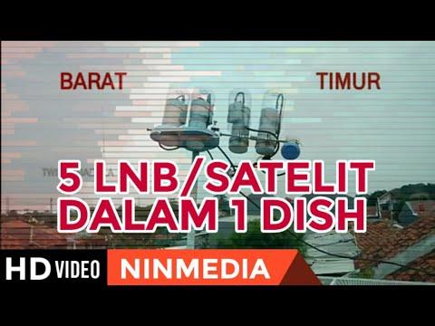 Cara Menggabungkan 5 LNB Dalam 1 Dish - Telkom3s, Palapa, Asiasat7, Asiasat5 dan Ninmedia/Chinasat11