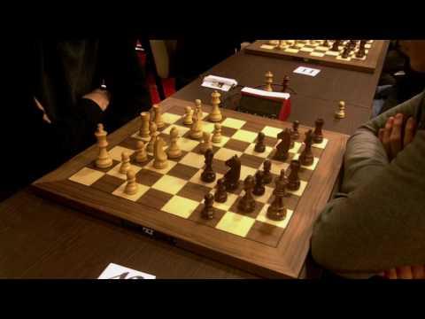GM Peter Leko - GM Potapov Pavel, Scandinavian defence, Rapid chess