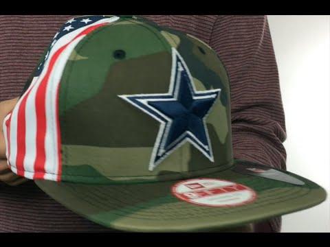 Cowboys  USA FLAG-SIDE SNAPBACK  Army Hat by New Era - YouTube 30db5f792
