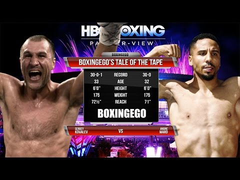 Sergey Kovalev vs Andre Ward Tale Of The Tape (BOXINGEGO FIRST LOOK)