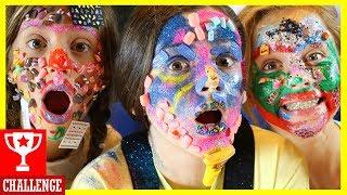 MAKEUP CHALLENGE! FULL FACE of KIDS FAKE NAILS, NAIL POLISH & NAIL ART! 💅 With SmellyBellyTV!