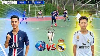 UEFA CHAMPIONS LEAGUE PSG vs REAL MADRID JOGO 5 vs 5 DESAFIOS DE FUTEBOL 2020 ‹ Rikinho ›