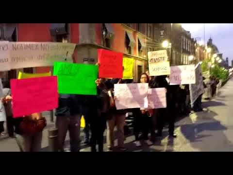 Protesta Trabajadores Notimex Frente a Palacio Nacional