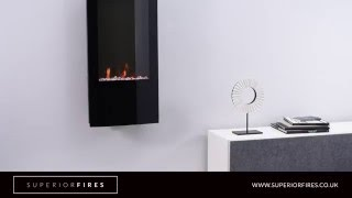 Superior Fires - Ebony Grand Black Wall Hung LED Electric Fire
