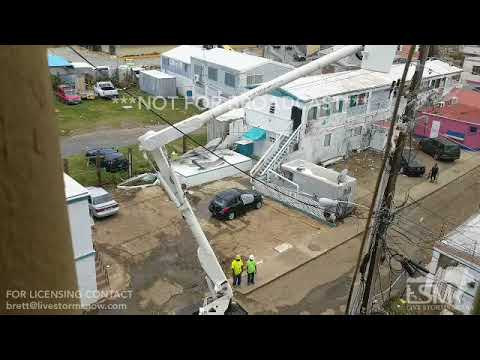 09-10-2017 St.Thomas USVI Hurricane Irma Aftermath and military operation and rebuilding