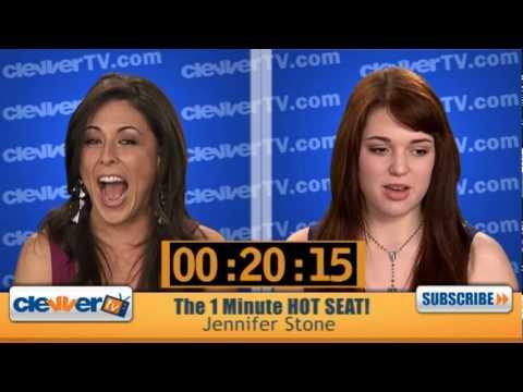 1 Minute Hot Seat  Jennifer Stone In The Hot Seat