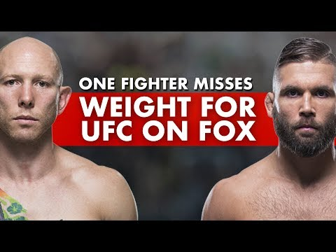 One Fighter Misses Weight For UFC On Fox