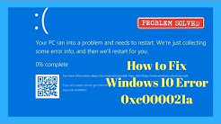 How to Fix Windows 10 Error 0xc000021a