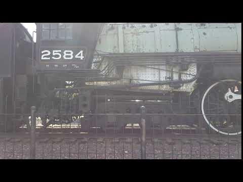 Great Northern Railway Steam Engine 2584 & Coal Tender Display Havre Montana 2017-08-29 21:13:17