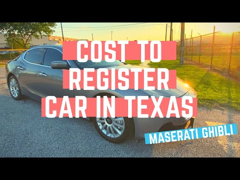 How Much To Register Car In Texas? (I Paid $X For My Maserati)
