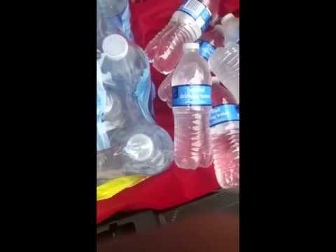 Water bottle instant slushy